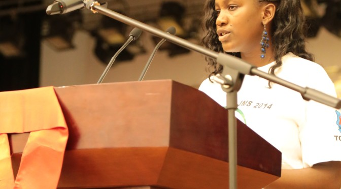 Youth Advocate for adolescents in the fight against AIDS addresses the Chadian Nation