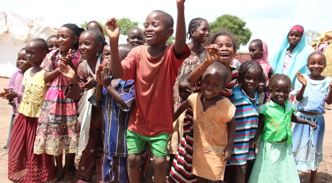 Children dance for peace in Chad