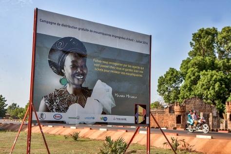 Kelo est une des villes qui bénéficiaire. Mounira Mitchala, une artiste tchadienne reconnue est l'ambassadeur de la campagne. Global Fund/2014/Esiebo