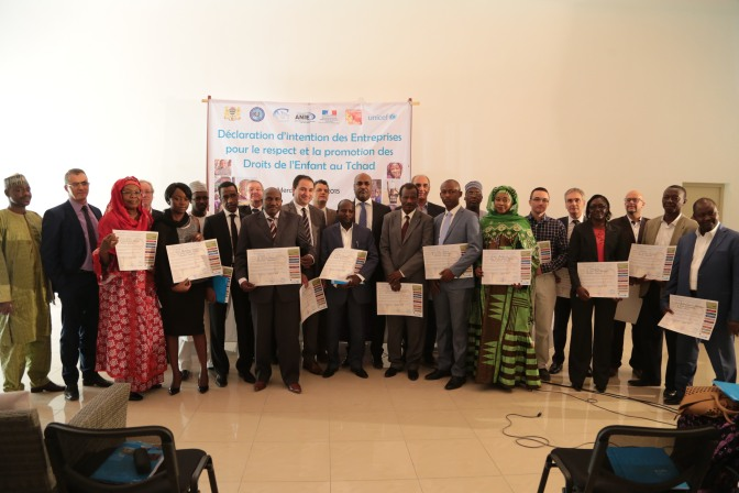 Des entreprises adhèrent à la «Déclaration d'intention des entreprises pour les droits de l'enfant» au Tchad