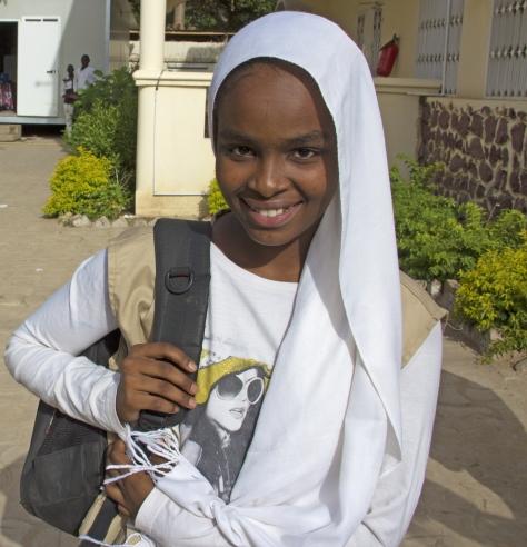 Souraya Hamat Ali, jeune reporter formée par UNICEF Tchad ©UNICEF Chad/2015/Nour
