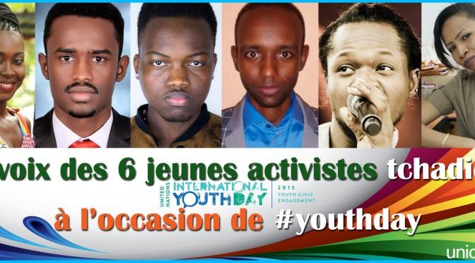 Six jeunes activistes tchadiens se mobilisent pour la journée internationale de la jeunesse.
