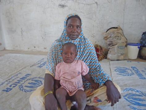 Fatimé Moussa retournée tchadienne vivant à Bagasola. ©UNICEF Chad/2015/Assane