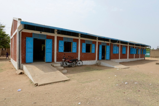 UNICEF built these school rooms and donated desks in Moundou Town Chad