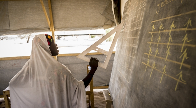 In Chad, Nigerian refugees discover education for the first time