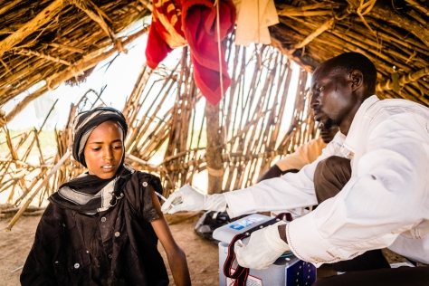Ahmat Manani, 7. Children in the Nomad Camp of Tchofio in the Guera Region – Central Chad. Because of their multiple displacements and difficult access to basic social services, the local health center has organized various immunization campaign in the