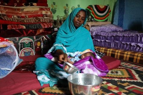Khadidja Adam and her baby Radiye
